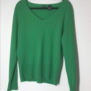 Cashmere Saks 5th Avenue green XL sweater